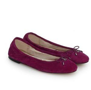 Sam Eldman Felicia Ballet Flat Leather Suade Flats